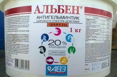 Препарат «Альбен» в ветеринарии: инструкция по применению, показания