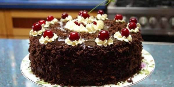 Торт с вишней: рецепты с фото