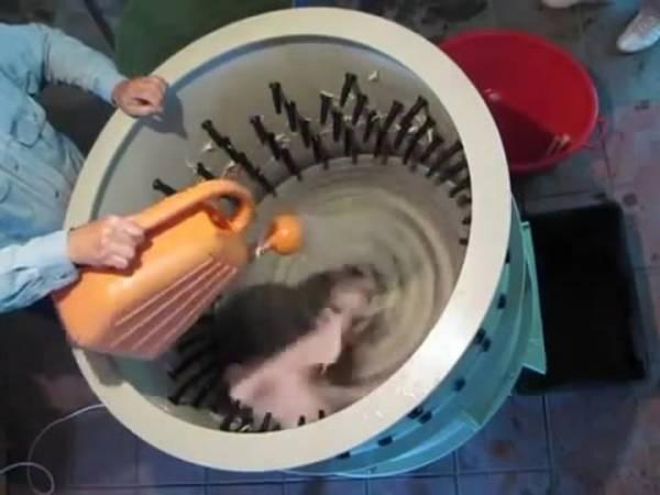 Как сделать перосъемную машину из стиральной машины