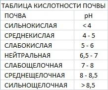 Кислотность почвы и ее значение, таблица кислотности почвы, растения-индикаторы, определение рН и изменение кислотности